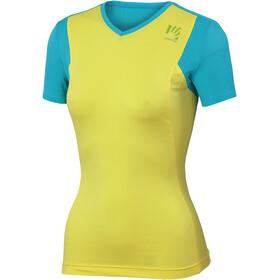 Karpos Giralba Koszulka rowerowa z zamkiem błyskawicznym Kobiety, vibrant yellow/bluebird